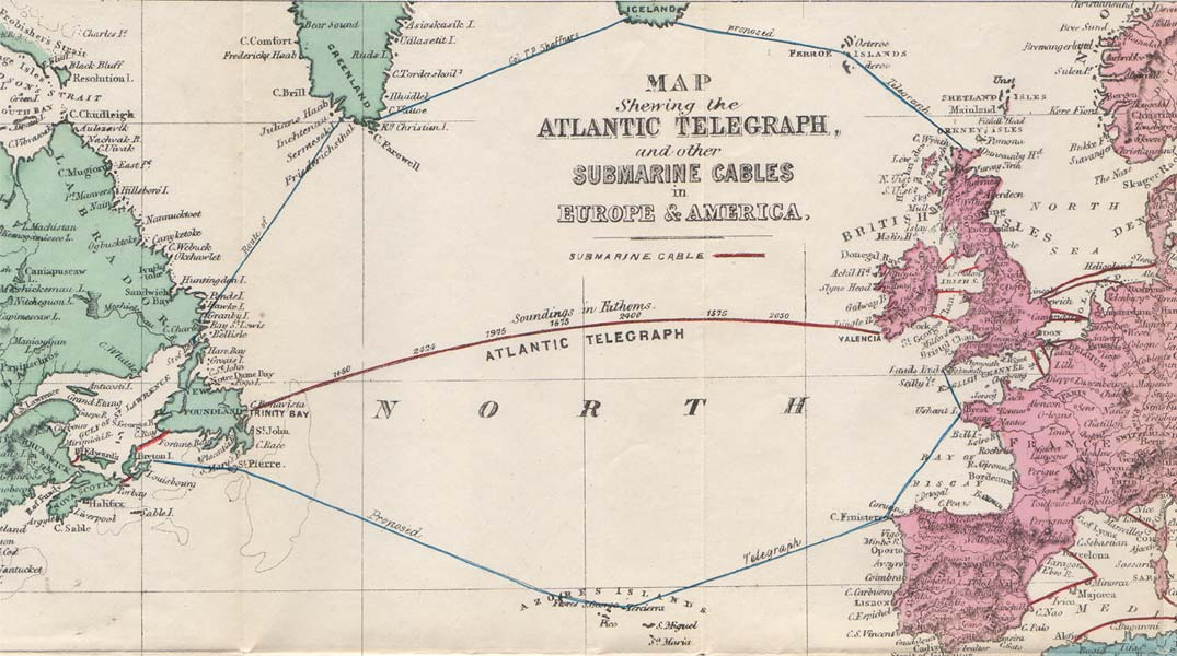 Intercontinental Submarine Cable Communication in High